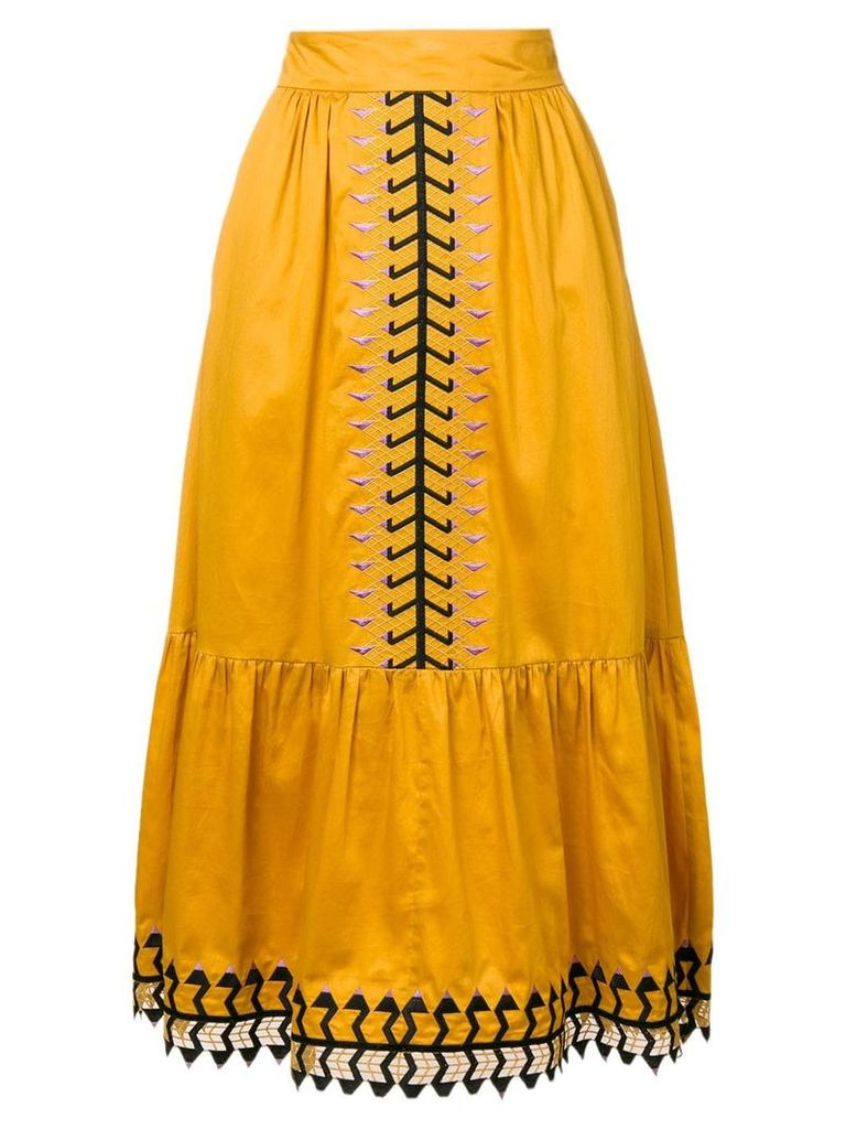 Temperley London Agnes skirt - Orange