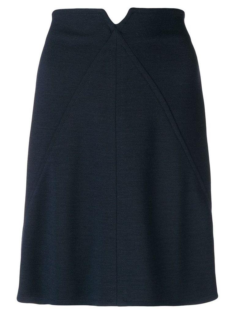 Courrèges high-waisted short skirt - Blue