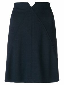 Courrèges high-waisted short skirt - Blue