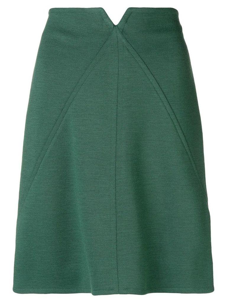 Courrèges high-waisted short skirt - Green