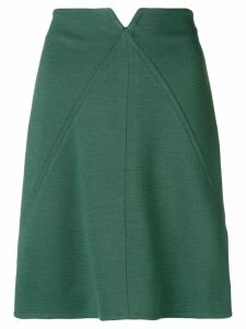 Courrèges high-waisted short skirt - Green