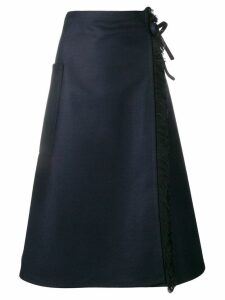 Sofie D'hoore fringed wrap skirt - Blue