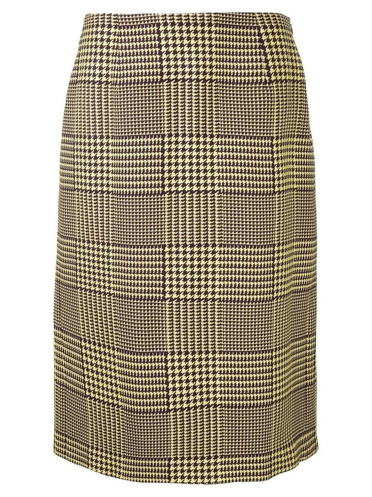 Mary Katrantzou Prince of Wales checked skirt - Yellow