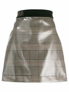 Fendi vernished checked skirt - Neutrals