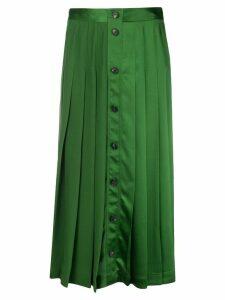 Victoria Beckham buttoned skirt - Green