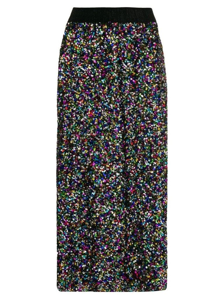 Ultràchic sequin midi skirt - Black