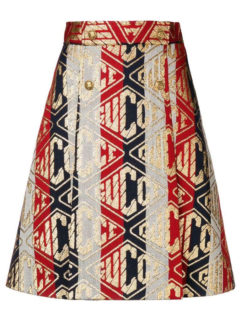 Gucci Game print skirt - Metallic