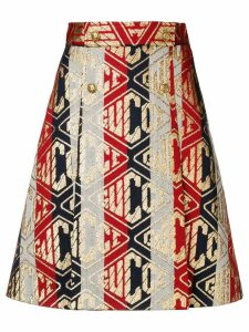 Gucci Game print skirt - Metallic