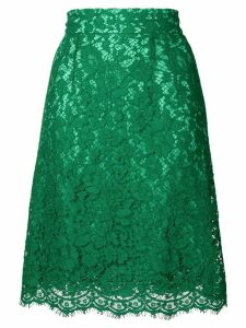 Dolce & Gabbana floral lace skirt - Green