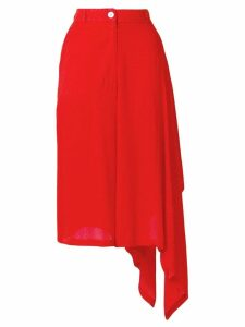 Marios asymmetric high-waisted skirt - Red