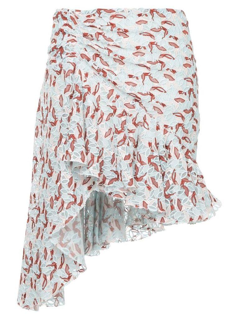 Giambattista Valli asymmetrical skirt - Blue