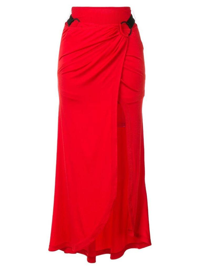 Paco Rabanne side slit skirt - Red