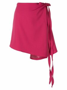 Y/Project asymmetric wrap skirt - Pink