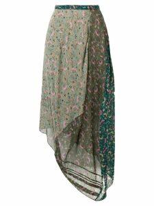 Chloé asymmetric floral print skirt - Green