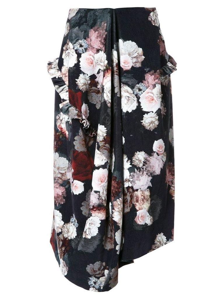 Preen By Thornton Bregazzi flower print skirt - Black