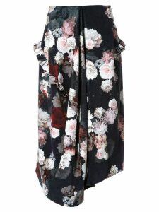 Preen By Thornton Bregazzi flower print skirt - Black