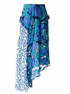 Preen By Thornton Bregazzi printed flower skirt - Blue