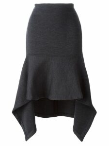 Marni asymmetric flared midi skirt - Grey