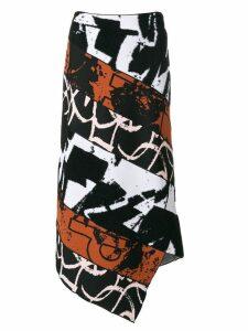 Proenza Schouler asymmetric panelled skirt - Black