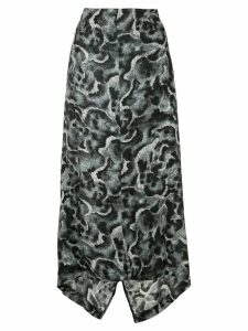 Yohji Yamamoto Pre-Owned patterned asymmetric skirt - Black