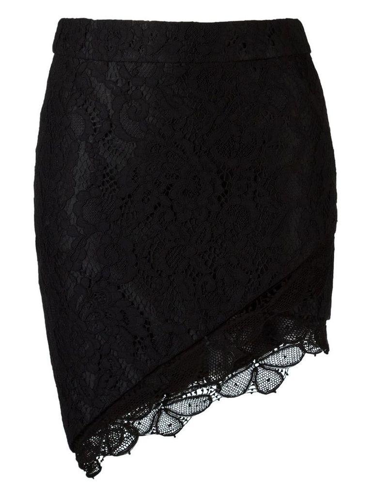 Martha Medeiros lace skirt - Black