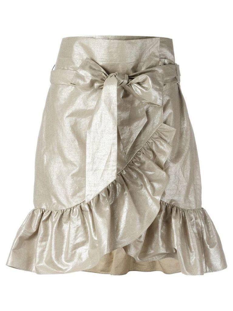 Isabel Marant lamé ruffled skirt - Metallic