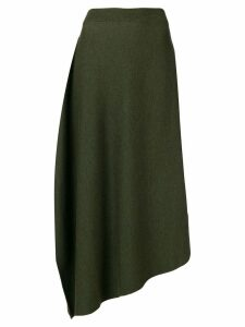 JW Anderson high waisted asymmetric skirt - Green