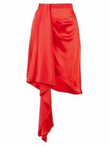 Fleur Du Mal asymmetric mini skirt - Red