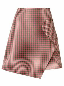 Vivetta check heart-pocket skirt - Neutrals
