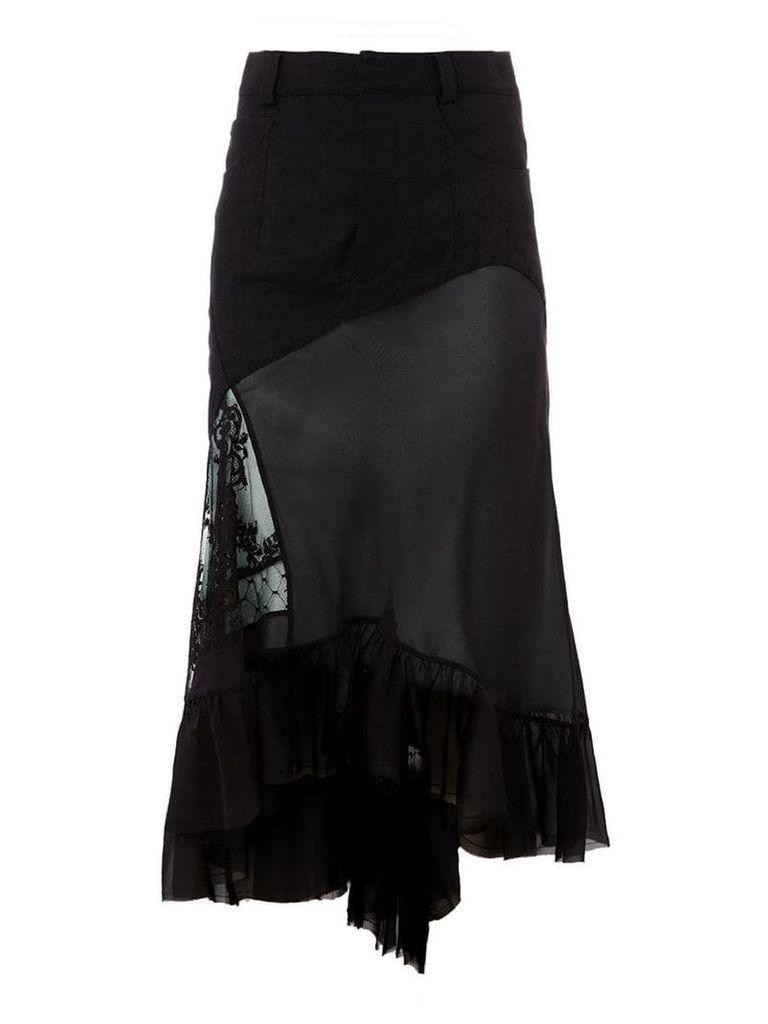 Haider Ackermann asymmetric layered skirt - Black