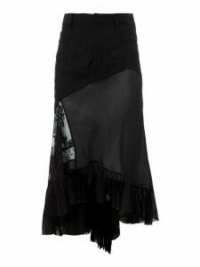 Haider Ackermann asymmetric layered skirt - Black