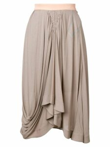 Chloé draped midi skirt - Grey