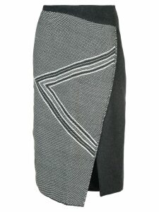 Voz asymmetric pattern skirt - Grey