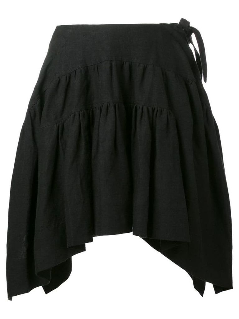 JW Anderson curved pleated skirt - Black