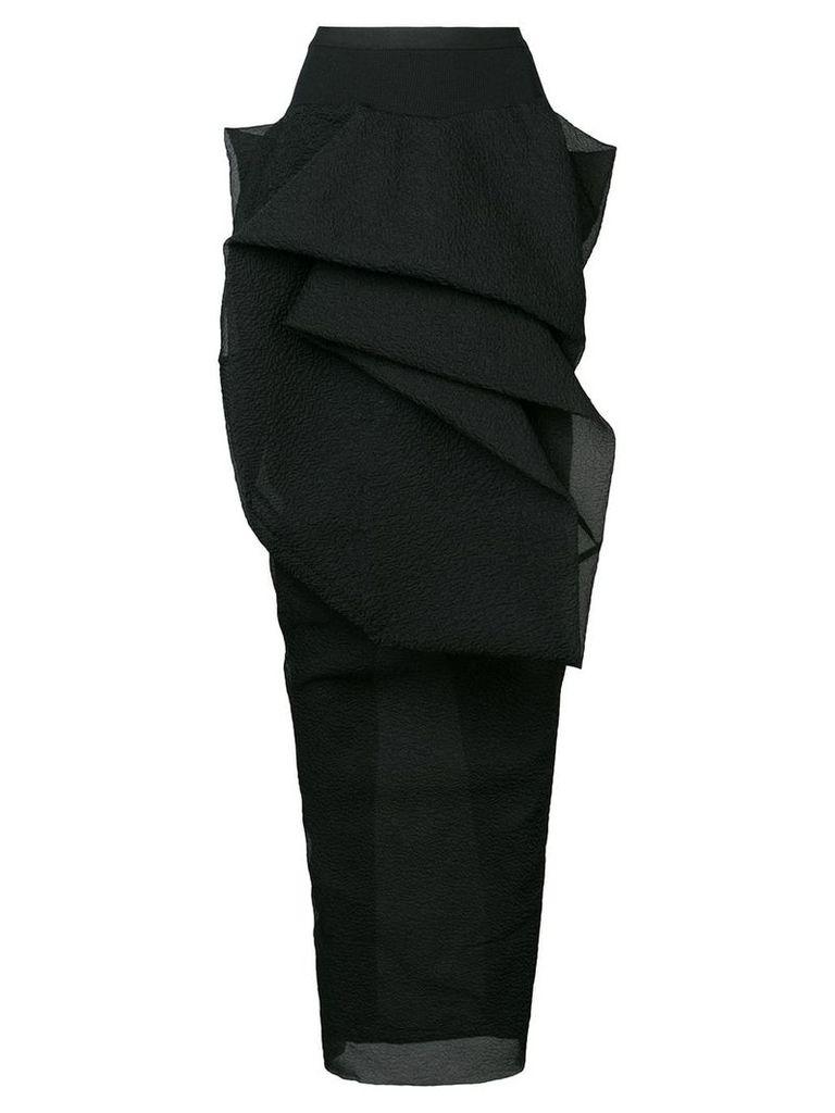Rick Owens Twist skirt - Black