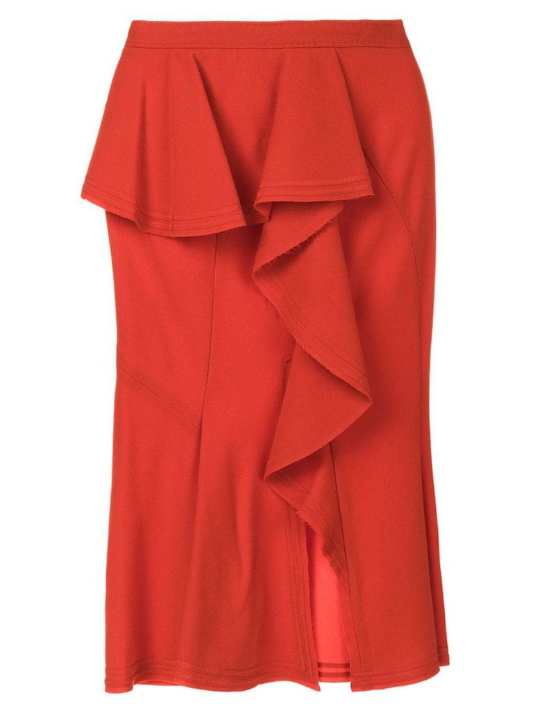 Givenchy asymmetric draped panel skirt - Red