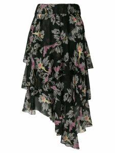 Isabel Marant Étoile Jeezon floral print skirt - Black