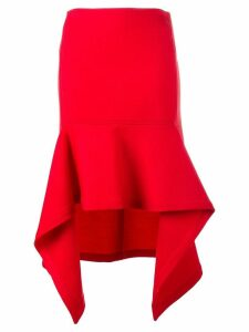 Marni asymmetric skirt - Red