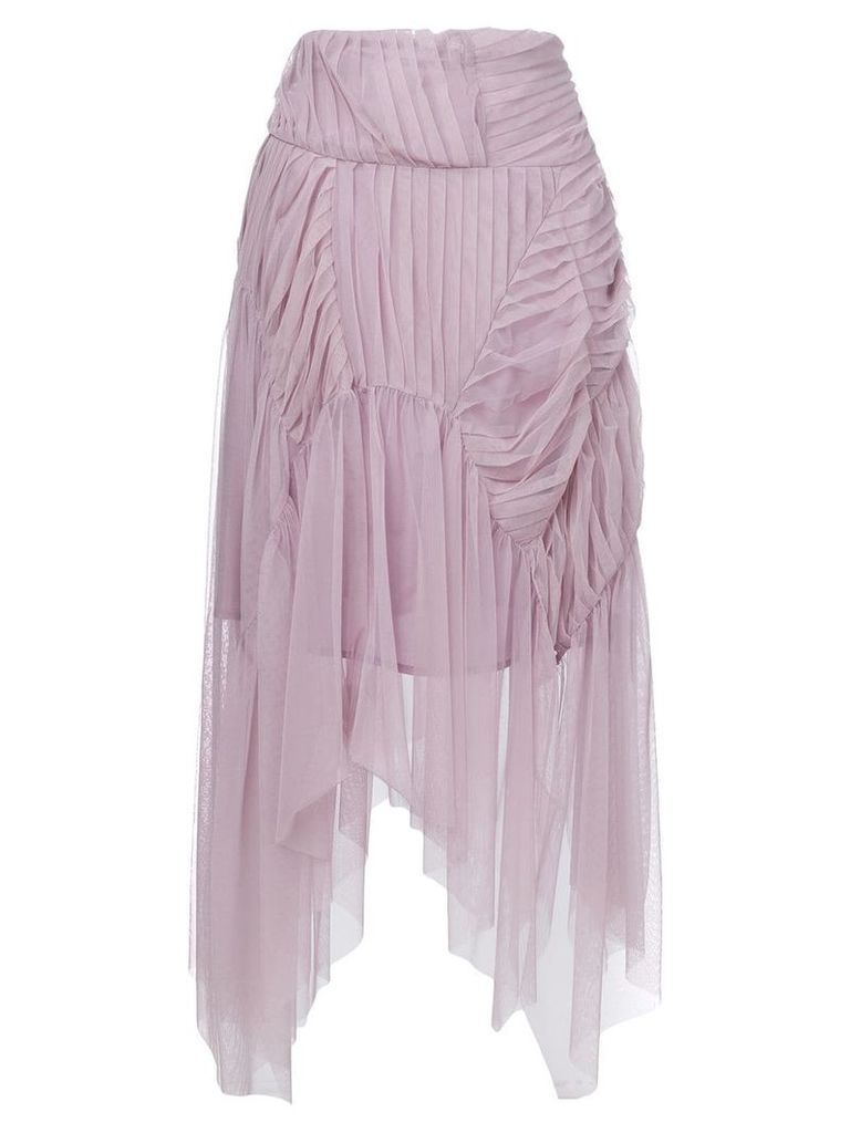 Preen By Thornton Bregazzi pleated asymmetric skirt - Pink