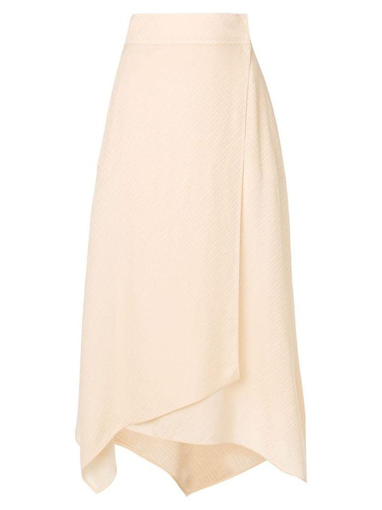 Fendi draped midi skirt - Neutrals