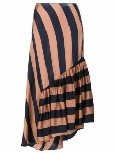 Stella McCartney fluid striped skirt - Brown