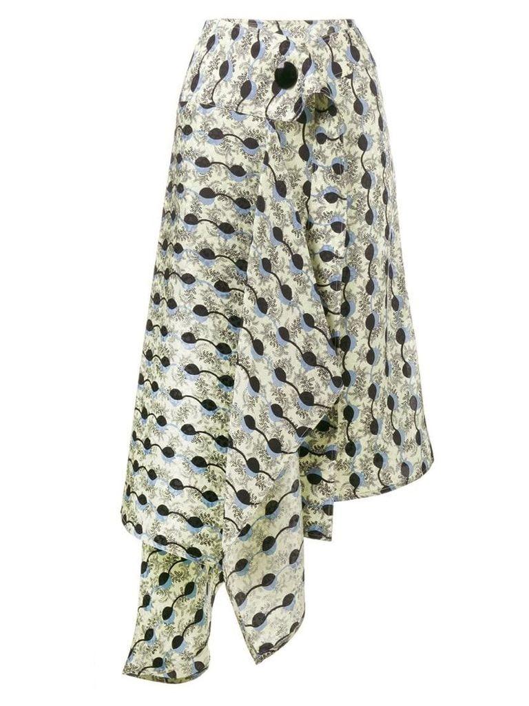 Marni Garland print asymmetric skirt - Black