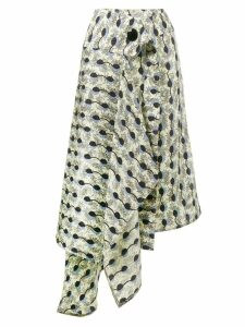 Marni Garland print asymmetric skirt - Black