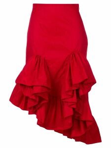 Marques'Almeida asymmetric flounce skirt - Red