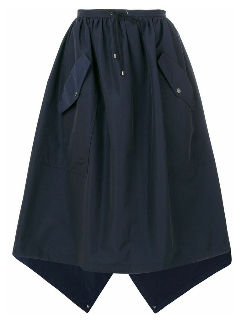Kenzo flap pocket full skirt - Blue