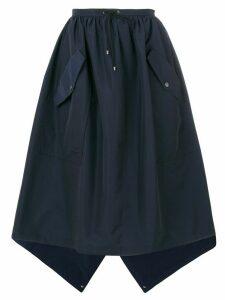 Kenzo flap pocket full skirt - Blue