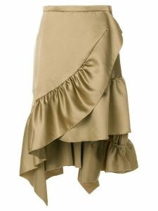Koché asymmetric frill skirt - Green