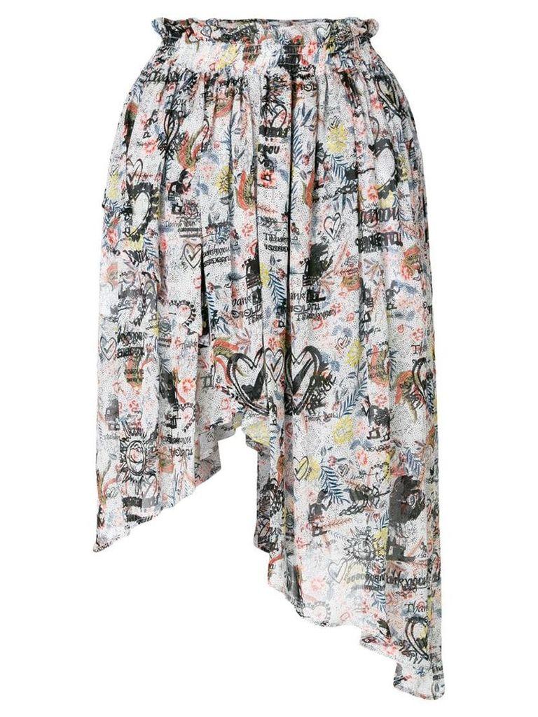 Vivienne Westwood Anglomania asymmetric printed skirt - Multicolour