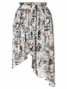 Vivienne Westwood Anglomania asymmetric printed skirt - Multicolour