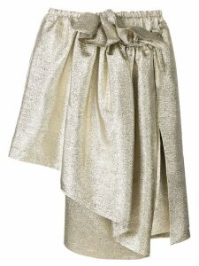 Stella McCartney metallic asymmetric skirt